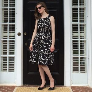 WORN ONCE Talbots floral fit and flare dress